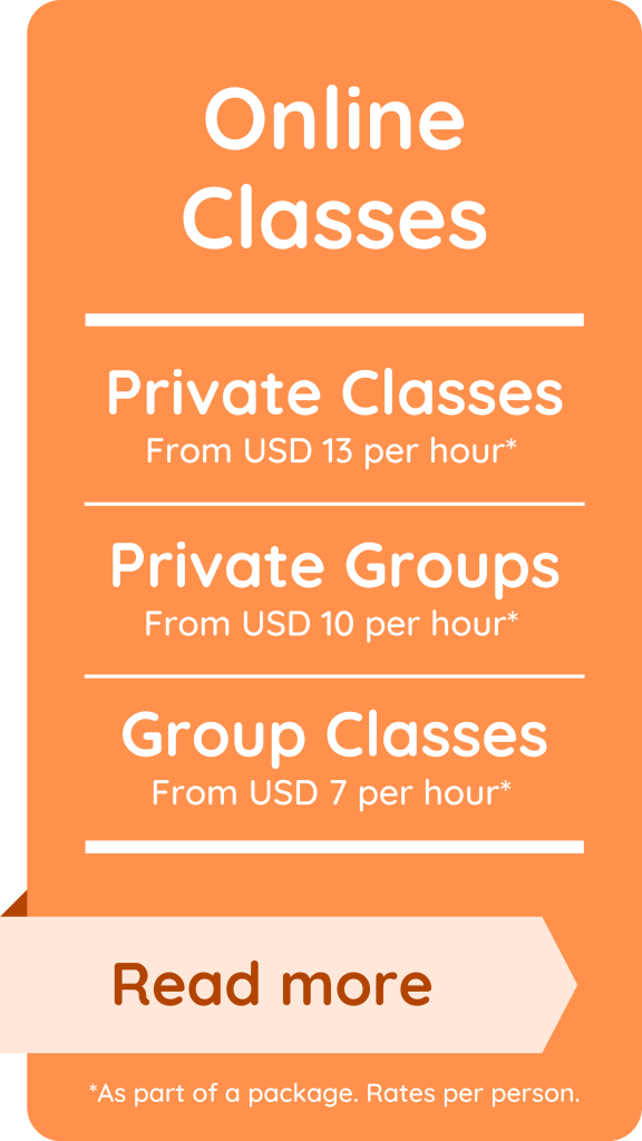 Spanish online lessons price