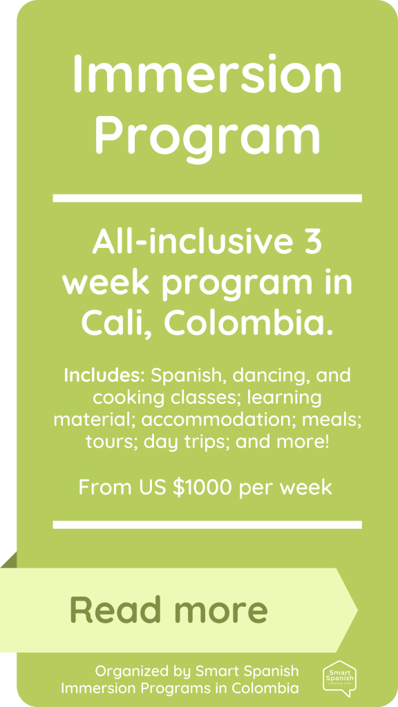 immersion program in Colombia price